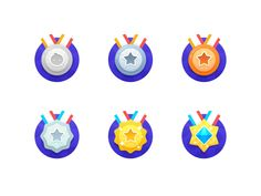 Medal & Level : Integral Grade designed by SA九五二七. Connect with them on Dribbble; the global community for designers and creative professionals. Design Ios, Game Ui Design, Flat Design Icons, Badge Design, Icon Design, Graphic Design, Theme Launcher, Launcher Icon, Design Thinking