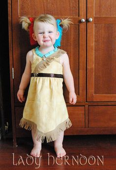 Size 2T Ready to Ship  My Fairy Tale Pocahontas by LadyHerndon, $50.00