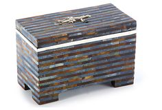 "5"" Box w/ Sterling Accent, Blue 