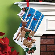 Bucilla ® Seasonal - Felt -Reindeer  Stocking Kits - Perfect for Christmas and holiday traditions! #plaidcrafts #crafts #needlecraft