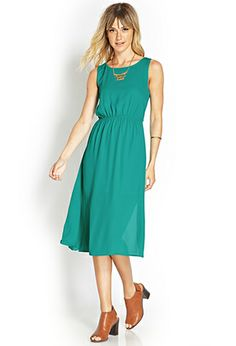 Twist-Back Midi Dress | FOREVER 21 - 2000073624