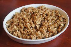 Rezept für glutenfreien Apple Crumble