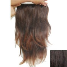 Fashionable Long Slightly Curled High Temperature Fiber Hair Extension For Women, DEEP BROWN in Hair Extensions | DressLily.com