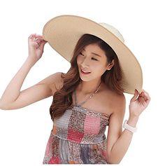 Women's Summer Wide Brim Beach Hats Sexy Chapeau Large Floppy Sun Caps (Beige2) 30th floor http://www.amazon.com/dp/B01DDFDQUE/ref=cm_sw_r_pi_dp_oaF.wb0TBXBQR