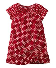 Love this Apple Red Swedest Slipover Dress - Girls by Hanna Andersson on #zulily! #zulilyfinds