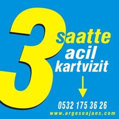 Acil kartvizit siparişleriniz 3 saatte hazır! http://www.argeseajans.com #acilkartvizit