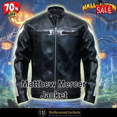 #Halloween Hot offer Get 70% #VideoGame Resident Evil Vendetta #LeonKennedy Black Leather Biker Jacket. #HalloweenSale #Halloween #Sale #2021 #OOTD #Style #Cosplay #Costum #men #fashionstyle #women #jacket #shopnow #Clothes #leather #discountoffer #outfit #onlineshopping #discount #buymypremium #celebrities #offers #fashion #bikerjacket