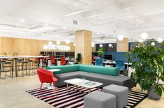 "With their new office redesign, Poppin has brought their motto, ""Work Happy,"" to their New York City headquarters in the Flatiron District."