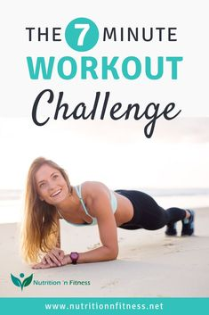 The Workout Challenge - How to lose weight quickly in 7 minutes. This 7 minute workout challenge is the perfect workout busy and can't find the time to juggle all the stress 7 Minute Workout Challenge, Hiit Workout Program, 7 Min Workout, Interval Training Workouts, Hiit Workout At Home, Workout List, Fun Workouts, Workout Plans, Weight Loss Detox