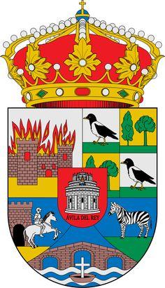 Escudo de la Provincia de Ávila - España. La provincia de Ávila es una provincia del centro de España perteneciente a la comunidad autónoma de Castilla y León. Su capital es la ciudad de Ávila y está formada por 248 municipios. Limita al norte con la provincia de Valladolid, al sur con Toledo y Cáceres, al este con Segovia y la Comunidad de Madrid, y al oeste con Salamanca.