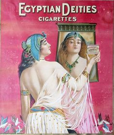 120: Egyptian Deities cigarette paper advertising, 12 1 : Lot 120