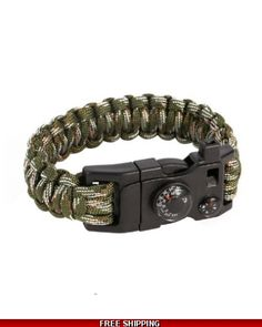 Military Paracord Bracelet 15 in 1