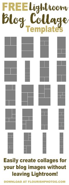 free lightroom collage templates photo pinterest bildbearbeitung druckvorlagen und ideen. Black Bedroom Furniture Sets. Home Design Ideas
