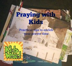 Praying with kids--some good ideas!