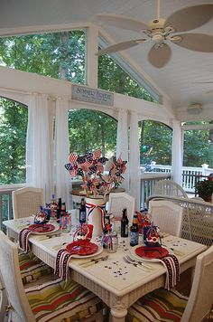 festive fourth of july table decorations