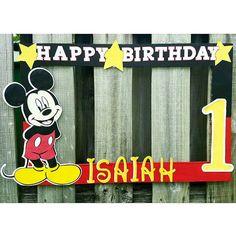 Mickey Mouse First Birthday photobooth frame.   (@karlitaskreations)