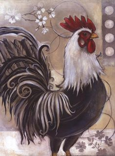 drawing unique Posterazzi Full Circle I Canvas Art - Kimberly Poloson x - Rooster Painting, Rooster Art, Tole Painting, Painting & Drawing, Rooster Decor, Chicken Painting, Chicken Art, Chicken Drawing, Chicken Coops