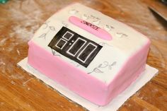 Alarm clock cake for a girl at work who NEVER came to work on time.