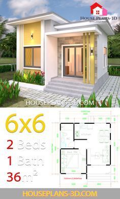 6 X 6 Bathroom Plans Inspirational House Plans with E Bedrooms Flat Roof House Plans Modern Small House Design, Small Modern Home, Simple House Design, Simple House Plans, Tiny House Plans, House Floor Plans, The Plan, How To Plan, Home Building Design