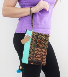Hey, I found this really awesome Etsy listing at https://www.etsy.com/listing/263717284/turquoise-leather-cosmetic-wristlet