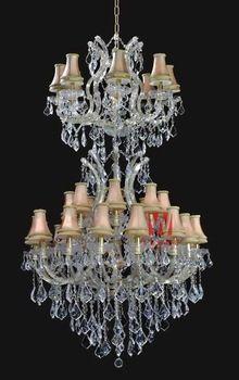 Affordable gold crystal chandelier lighting 32 lights pendant crystal chandeliers chandelier lamp sale C9244 91cm W x 145cm H