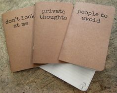 This trifecta of on-point notebooks. | 37 Perfect Gifts For All The Introverts In Your Life