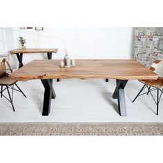 Table de salle à manger 200 cm en bois d'acacia
