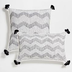 Image of the product Embroidered zigzag cotton cushion cover