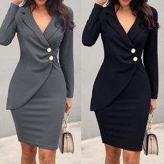 Buy Women's Elegant Formal Dress at www.pukky.in! Free shipping to 185 countries. 45 days money back guarantee. Elegant Dresses, Sexy Dresses, Dresses With Sleeves, Formal Dresses, Camo Dress, Office Dresses, Dress With Bow, Elegant Woman, Fashion Wear
