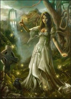 Will \'o The Wisp by Cris Ortega / Fantasy Art Cris Ortega, Dragons, Will O The Wisp, Wolf, Digital Art Anime, Opus, Celtic Art, Gothic Art, Gothic Angel