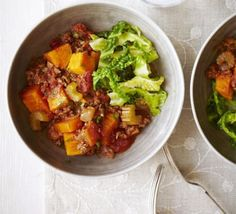 Minced beef & sweet potato stew