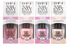 OPI Nail Envy Strength in Color Collection! See the 4 shades in the new OPI Nail Envy Strength in Color Collection! Nail Envy Opi, Opi Nails, Uv Gel Nails, Nail Polishes, Coffin Nails, Polish Nails, Glitter Nails, Opi Nail Strengthener, Nails News