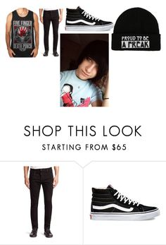 """""""Ashton supports Anxiety Attack"""" by alexanxiety ❤ liked on Polyvore featuring Dsquared2 and Vans"""