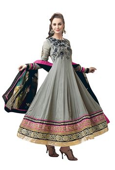 pair this anarkali with neon pink pumps!