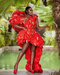 Nana Akua Addo- Rocking Red Like A Beauty Diva Fashion, Fashion Games, All Fashion, Instagram Outfits, Instagram Fashion, New Outfits, Stylish Outfits, Ankara Gown Styles, Gowns Of Elegance