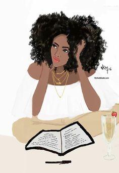 Intelligent black woman