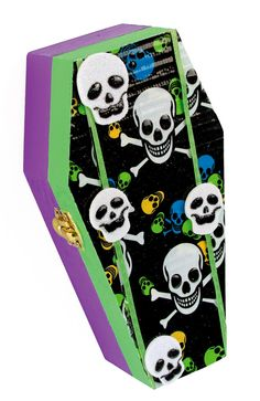 Nicole™ Crafts Duck Tape® Wood Coffin #kids #craft #halloween