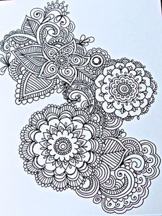 Homemade henna design cards by Heidie Ambrose. 5 for $20.