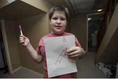 Autistic boy's primrose marker obsession goes viral Good News Stories, Toronto Star, Weapon, Markers, Led, Facebook, Boys, Baby Boys, Sharpies