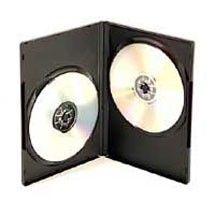 Black SlimLine Double DVD Cases - 25 Pack for $4.97