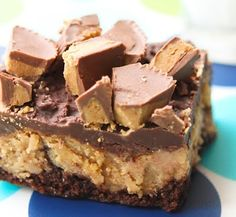 Reeses Cheesecake Brownies sweets-for-the-sweet