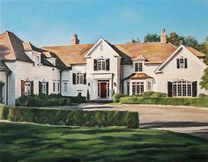 Housewarming Gift  Home Portrait  Home Painting  Custom