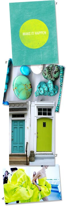 COLOR NOTES: LIME + TURQUOISE