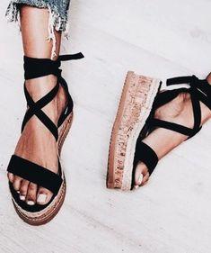 Wrap sandals.