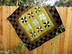 Handmade Pinwheel Quilt Prairie Wheat Fields by juliegalbraith, $345.00