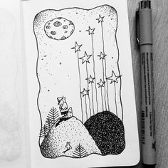 Dave Garbot — Stargazing #illustration #drawing #penandink...