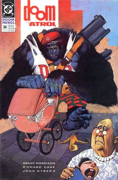 Doom Patrol / 34 cover / 1990 (Simon Bisley)