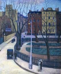 Stanislawa de Karlowska, 'Berkeley Square' (The Camden Town Group in Context) Berkeley Square, London Square, Wassily Kandinsky, Paul Gauguin, Twilight Scenes, London Painting, Nostalgia, Camden Town, Camden Group