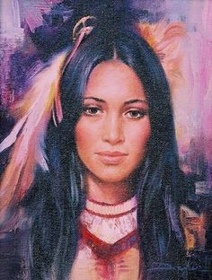 Lavender Maiden by Russ Docken kp Native American Paintings, Native American Pictures, Native American Beauty, American Indian Art, Native American Indians, Native Indian, Native Art, Creation Photo, Indian Beauty