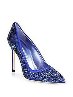 Manolo Blahnik BB Sparkling Satin Pumps